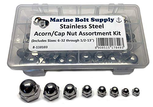 Stainless Steel Acorn/Cap Nut Assortment Kit - Marine Bolt Supply 8-110103