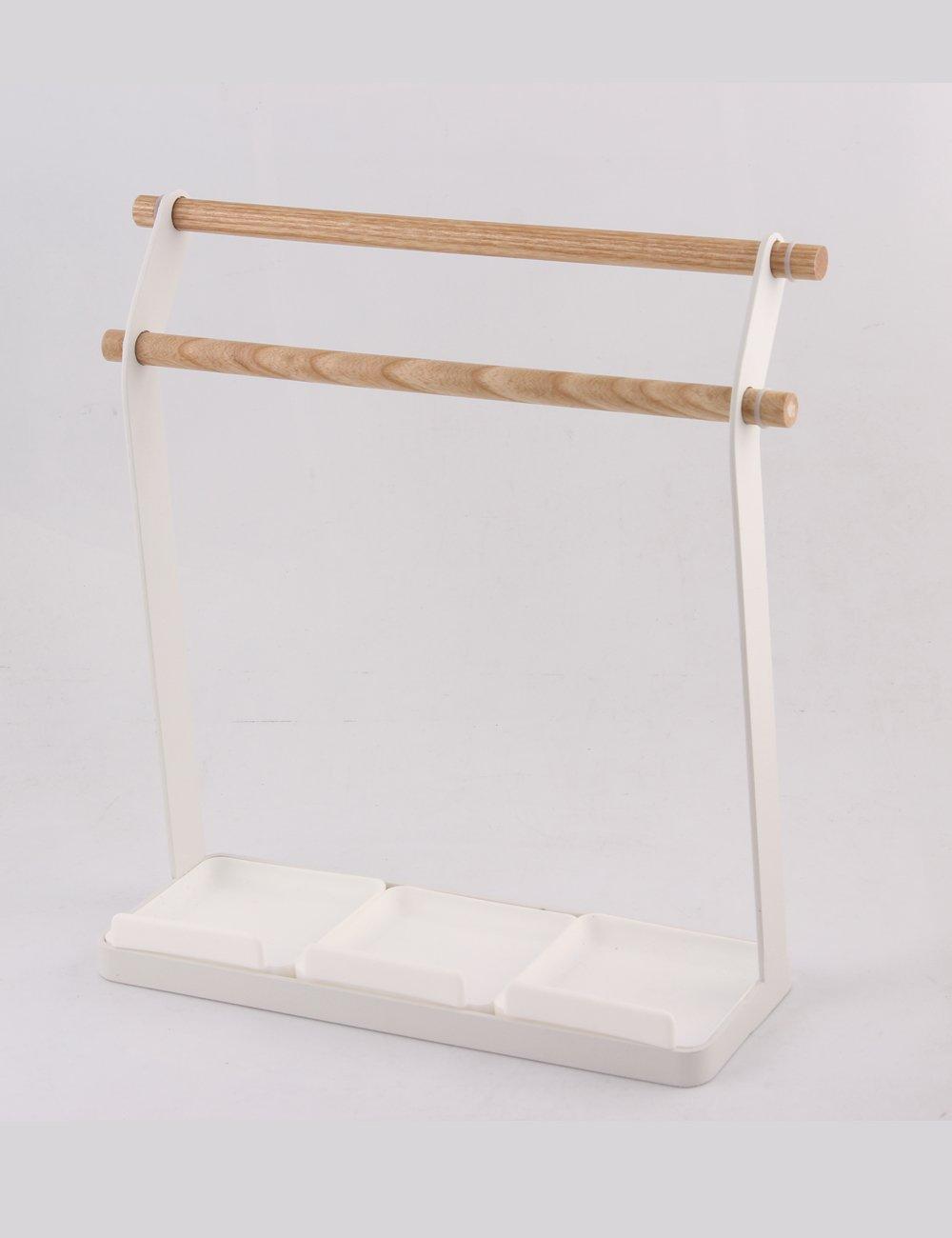 Galexbit Bathroom Towel Rack Kitchen Organizer Cabinet Cupboard Towel Rack Hanging Holder Organizer Hanger (black)