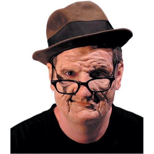 Rubie's Costume Co Halloween Old Man Foam Latex Appliance Face Kit, One (Old Man Halloween Costume)