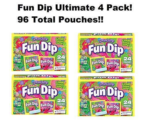 - Lik m aid Springtime Fun Dip - Wonderous Watermelon Dip & Strawberry Licious Dip (4 Boxes, 96 Pouches Total)