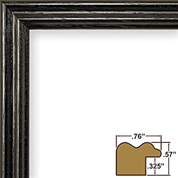 craig frames 200ashbk2030aac 075 inch wide pictureposter frame in wood grain finish 20 by 30 inch black