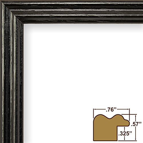- Craig Frames 200ASHBK 0.75-Inch Wide Picture/Poster Frame with Wood Grain Finish, 10 by 13-Inch, Black
