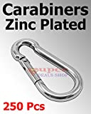250 Pcs 5/16'' Snap Hooks Carabiners Zinc Plated Spring Hooks Heavy Duty Choose Size/Quantity In Listing Made in USA Super-Deals-Shop
