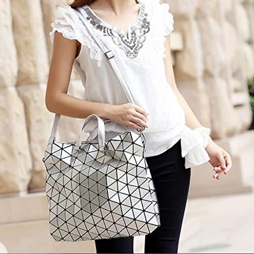 Plegable Moda Las Mujeres Blanco De Bolso La Geométrica Bandolera Sq4nAaTwa