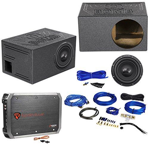 Alpine W10S4 10″ 750w Car Subwoofer+Vented Sub Box Enclosure+Amplifier+Amp Kit