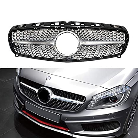 Diamond radiator front grille for A class W176 2013 2014 2015 (Silver) YOUCHE