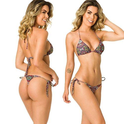 Bali Halter Top (THE MESH KING COQUETA Swimwear Women Brazilian Sexy Bikini Bottom Thong Triangle Top Set Bali)