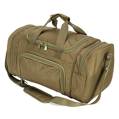 - WolfWarriorX Men Military Tactical Locker Duffel Bags with Shoes Compartment Large Storage Lightweight Workout Travel Vocation Hiking Trekking Luggage Sport Gym Bag