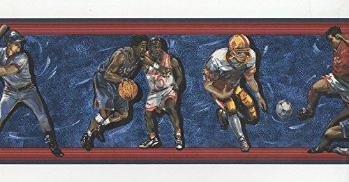 Deportes –  b.3408 –  Cenefa de papel pintado wallpapers2u