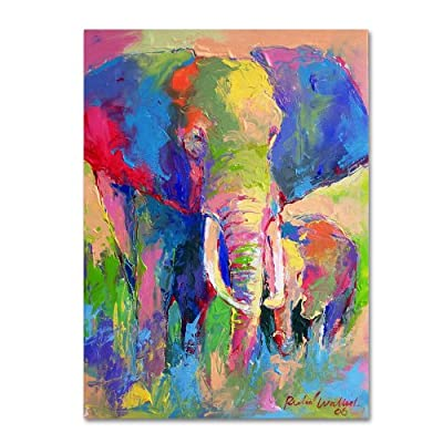 Trademark Fine Art Elephant 1 Artwork by Richard Wallich - Artist: Richard Wallich Subject: Animals Style: Impressionism - wall-art, living-room-decor, living-room - 51USj4nxaBL. SS400  -
