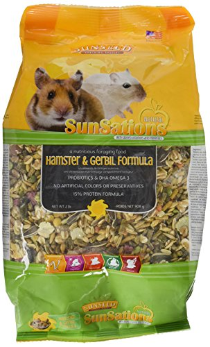 SUNSEED COMPANY 36058 1 Piece Sunsations Natural Hamster/Gerbil Formula Food Treat, 2 lb 51USjEhDkoL