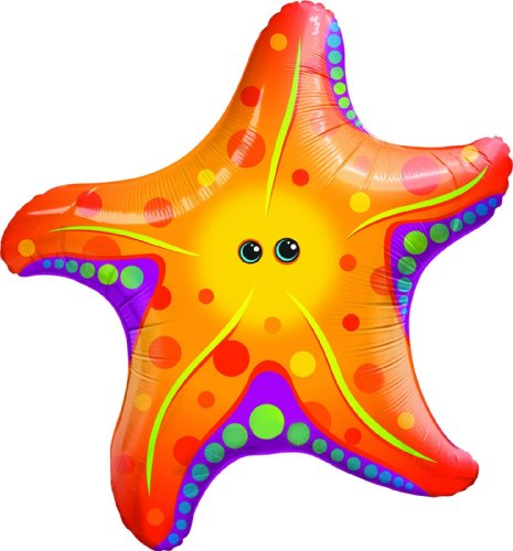 [Mayflower Distributing Super Sea Star Jumbo Foil Balloon] (Sea Themed Costume Party)