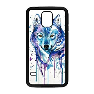 DIY Phone Case for SamSung Galaxy S5 I9600, Rainbow Wolf Cover Case - HL-R670924