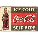 "Desperate Enterprises Coca-Cola c. 1916 Ice Cold Tin Sign, 16"" W x 12.5"" H"