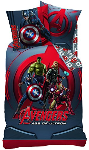 Wende Bettwäsche Set Marvel Avengers Age of Ultron, 135x200cm + 80x80cm, Linon