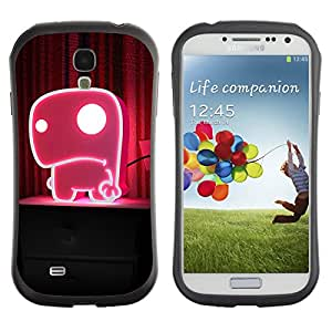 Pulsar iFace Series Tpu silicona Carcasa Funda Case para SAMSUNG Galaxy S4 IV / i9500 / i9515 / i9505G / SGH-i337 , Funny Cute Pink Monster