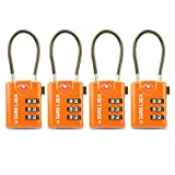 SURE LOCK TSA Compatible Travel Luggage Locks, Inspection Indicator, Easy Read Dials - 1, 2 & 4 Pack...