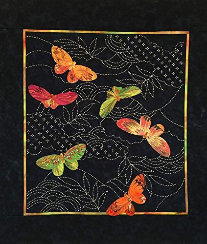 Fabric Upholstery Craft Panel Butterfly orange and black butterfly