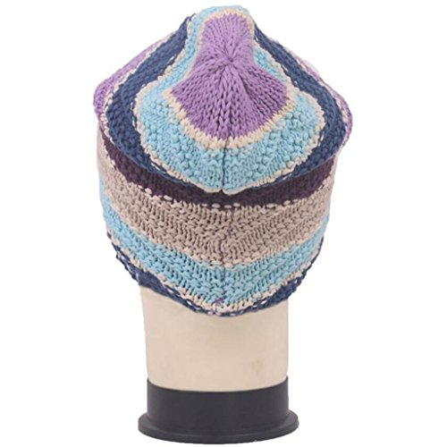 punto de Outdoor Sombrero Hat Jacquard de Gorro Peludo Moda ZHAS SwAqH6R