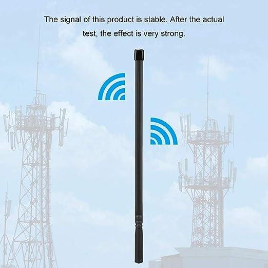 CS Antena táctica, VHF/UHF Doble Banda SMA-Hembra 144 / 430Mhz Antena para Baofeng Walkie Talkie(47 cm / 18.5 in)
