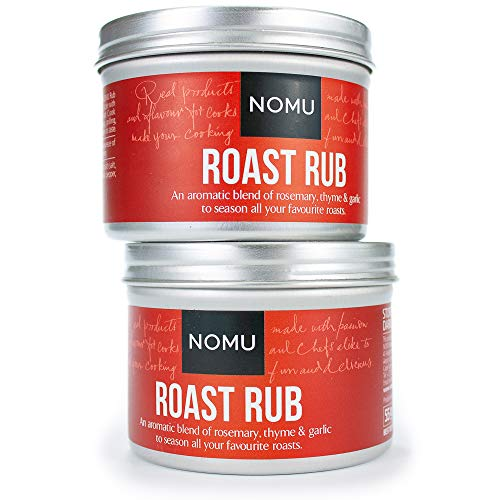 NOMU Roast Seasoning Rub (3.88 oz | 2-pack) | MSG & Gluten Free, Non-GMO, Non-Irradiated
