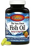 Carlson Labs Very Finest Norwegian Liquid Fish Oil, 1000mg, 120 Softgels