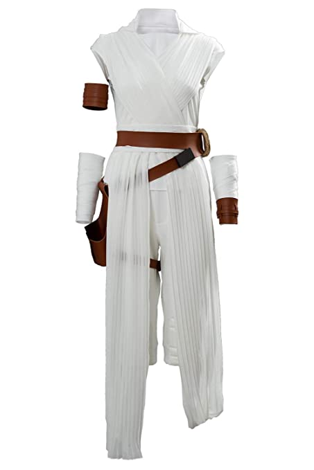 Star Wars 9 The Rise of Skywalker Rey Traje de Cosplay Disfraz Mujeres L