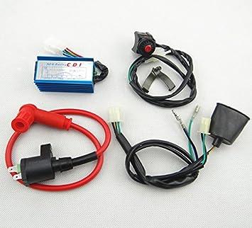 amazon com wiring loom harness kill switch ignition coil cdi for rh amazon com