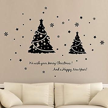 Christmas Wall Decals Removable.Amazon Com Pumsun Merry Christmas Wall Art Removable Home