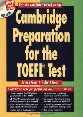 Cambridge Preparation For The Toefl Test  Cambridge Preparation For The TOEFL  W CD ROM