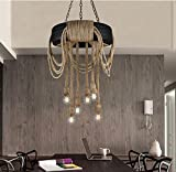 YanCui@ Creative vintage tires rope pendant lamp, living room/storage/table/bar/restaurant/coffee shop pendant light