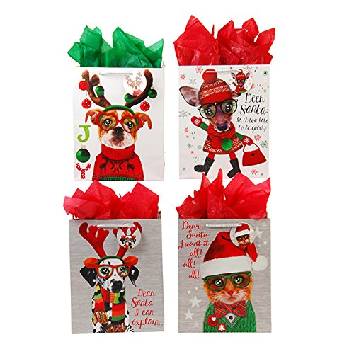 Large Furry Christmas Pals Gift Bags (Pal Furry)