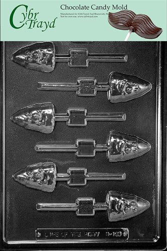 Thanksgiving Candy Mold Chocolate - Cybrtrayd Life of the Party H163 Halloween Thanksgiving Candy Corn Lolly Chocolate Candy Mold in Sealed Protective Poly Bag Imprinted with Copyrighted Cybrtrayd Molding Instructions