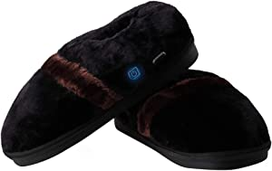 Heated Slippers, BIAL Foot Warmer Heated Indoor Slippers USB Electric Heated Up Cold Weather House Shoes with Temperature Control to Keep Feet Warmer for Men 5-10 and Women 4.5-11.5 Size Shoes