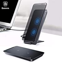 Baseus multifunctional wireless charging pad for phone with desktop  holder(With Type-C cable)Black WXHSD-01