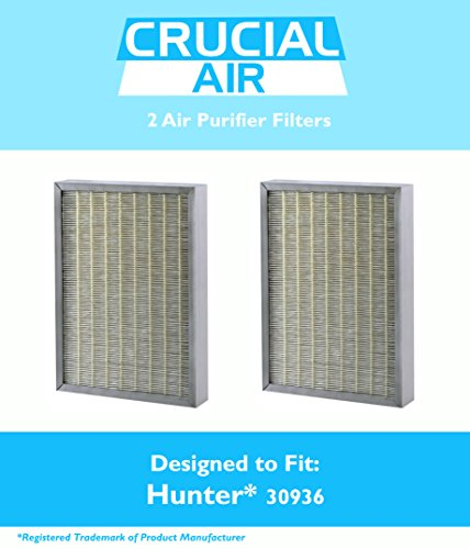 2 Hunter 30936 Air Purifier Filters Fit 30085, 30090, 30095, 30105, 30117 & 30130, Designed & Engineered by Crucial Air