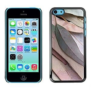 [Neutron-Star] Snap-on Series Teléfono Carcasa Funda Case Caso para iPhone 5C [Deja la caída del otoño verde Naturaleza Árbol]