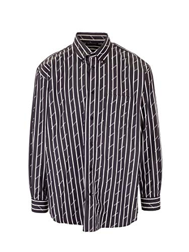 Balenciaga Luxury Fashion Mens 534333TGLB78482 Black Shirt   Fall Winter 19