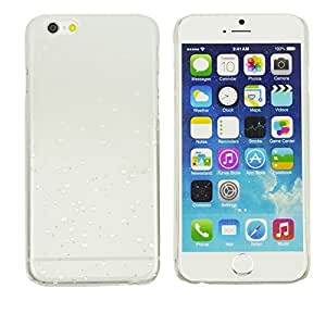 OnlineBestDigital - Transparent Gradient Water Drop Design Hard Back Case for Apple iPhone 6 Plus (5.5 inch) Smartphone - White with 3 Screen Protectors