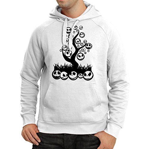 lepni.me Hoodie The Nightmare Tree - Halloween Party Outfit (X-Large White Multi Color) ()