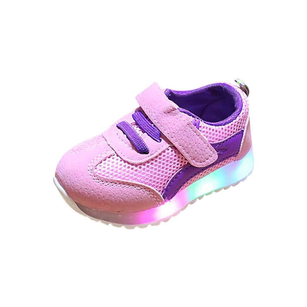 B/éb/é Chaussures LED Baskets Sport,Xinantime Enfant en Bas /âge B/éb/é Fille a Conduit des Chaussures L/ég/ères Gar/çons Lumineux Sandales de Sport en Plein Air