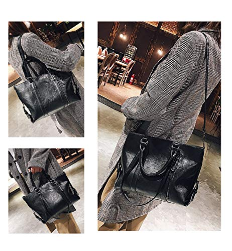Black Body Handbags PU Capacity Bags Shoulder Travel for Girls for Bags Tote Large Cross Leather for Satchels Ladies Women Designer Work Tote Classic OBqAxPIP
