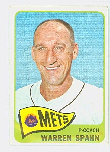 Motiv Frame Single (1965 Topps Baseball 205 Warren Spahn New York Mets Good to Very)