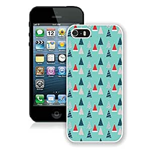 Personalization Iphone 5S Protective Cover Case Christmas Tree iPhone 5 5S TPU Case 14 White
