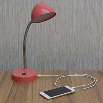 mainstays coral usb led desk lamp. Black Bedroom Furniture Sets. Home Design Ideas