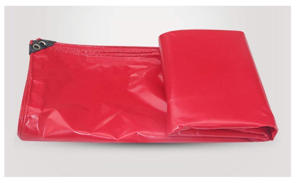 KYCD Telone Heavy Duty, 4 x 3 m, Adatto per Giardinaggio, Pesca, Amaca, Pioggia, Mosca, Tenda da Campeggio, Riparo da Terra, Varie Misure, colore  Rosso, 4  4m