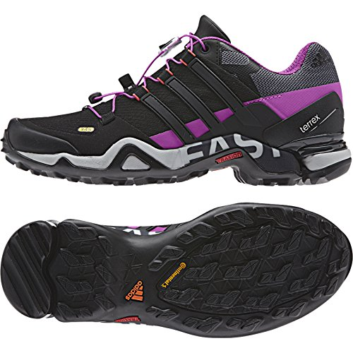 Adidas Outdoor Terrex Fast R Wandelschoen - Dames Lucky Blue / Black / Flash Pink