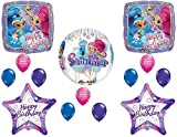 Shimmer and Shine Happy Birthday Party Balloons With Orbz Forever Balloon