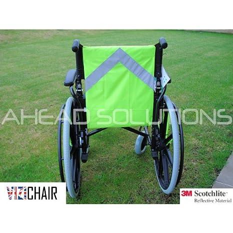 Silla Hi Viz reflectante babero chaleco de seguridad para silla de ruedas o Scooter para personas