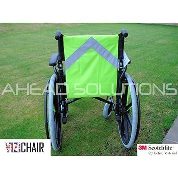 Silla Hi Viz reflectante babero chaleco de seguridad para silla de ruedas o Scooter para personas ...